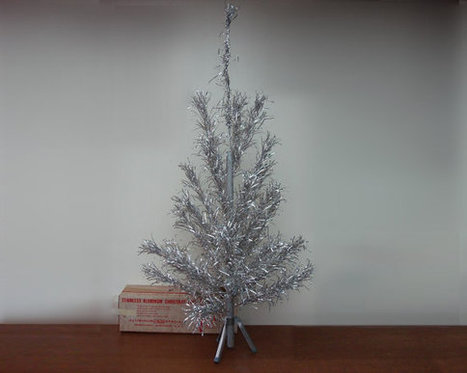 Mid Century 4FT Aluminum Christmas Tree Vintage 1950s 1960s EVERGLEAM Xmas Tree   Blingy Fripperies, Shopping, Personal Stuffs, & Wish List   Scoop.it