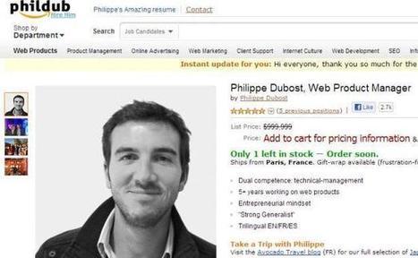 Emploi: Il vend son CV comme un produit Amazon et fait sensation - 20minutes.fr | Recrutement, Emploi 2.0 | Scoop.it