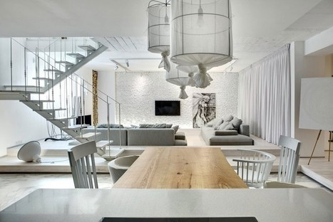 Almost All White Apartment in Kiev Plays With Materials and Textures | studioaflo | Scoop.it
