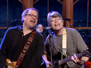 Stephen King's all-author rock band plays swan song on 'The Late Late Show' — EXCLUSIVE VIDEO | EW.com | Google Lit Trips: Reading About Reading | Scoop.it