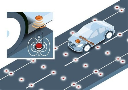 Volvo Tests Road Magnets for Positioning of Self-Driving Cars | Cars | Scoop.it