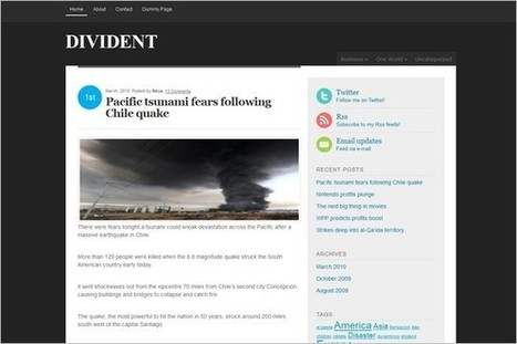 Divident is a free WordPress Theme by Dynamicwp.net | WP Daily Themes | Free & Premium WordPress Themes | Scoop.it