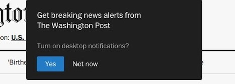 On the hunt for direct audience connections, publishers turn to desktop push notifications | RJI links | Scoop.it