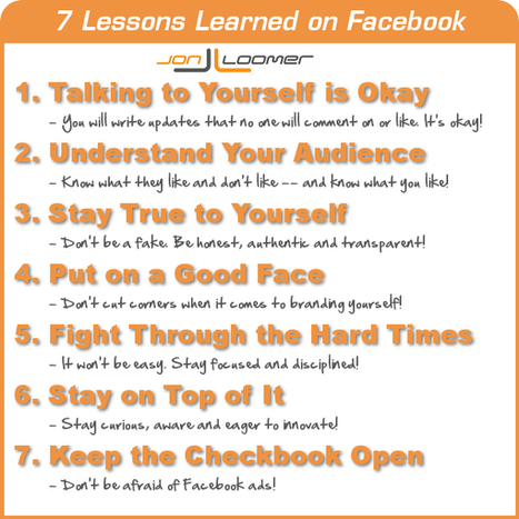 A Personal Look Back: 7 Lessons Learned on Facebook [Part 2] | From here and there ... | Scoop.it