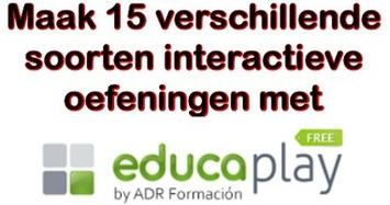 Met 'Educaplay' kun je allerlei soorten interactieve oefeningen maken | Edu-Curator | Scoop.it
