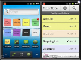 Zinfos: ColorNote le bloc note utile et coloré pour Android | Geeks | Scoop.it
