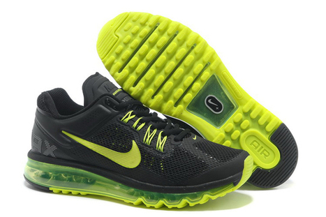 Men Size Running Shoes Black - Yellow Air Max 2013 iD | share list | Scoop.it
