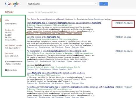 Google Scholar richtig nutzen – so funktioniert die Literatursuchmaschine von Google | Zentrum für multimediales Lehren und Lernen (LLZ) | Scoop.it