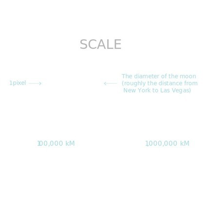 If the Moon Were Only 1 Pixel - A tediously accurate map of the solar system | Just Interesting | Scoop.it