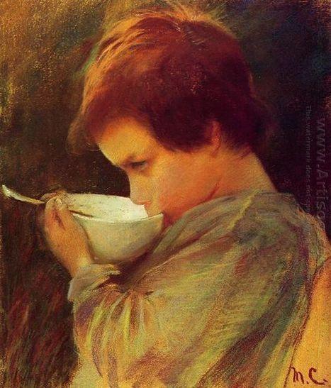 Oil painting reproduction: Mary Cassatt Child Drinking Milk - Artisoo.com | arts&oil | Scoop.it