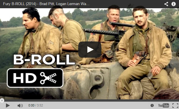"""Behind the Scenes B-Roll Footage of """"Fury"""" Starring Brad Pitt   Fstoppers"""
