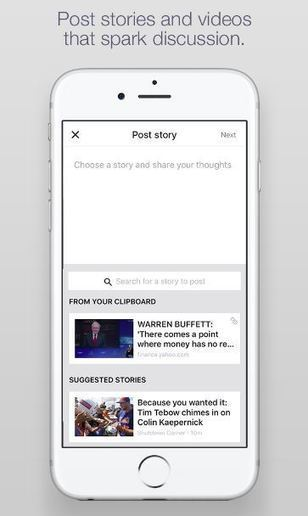 Yahoo Newsroom : une appli sociale qui attaque Facebook de front | Applications Iphone, Ipad, Android et avec un zeste de news | Scoop.it