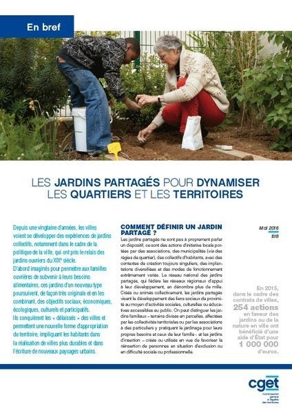 Les jardins partagés pour dynamiser les quartiers et les territoires l CGET | Innovations urbaines | Scoop.it