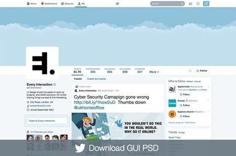 Twitter profile GUI PSD - Every Interaction | Outils et pratiques du web | Scoop.it