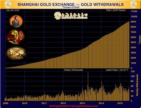 Jesse's Café Américain: Shanghai Gold Exchange Has 46.2 Tonnes of Gold Withdrawn - What Will China Do | Gold and What Moves it. | Scoop.it