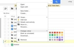 Colourful Folders in Google Drive - Tech Tip | Ed Tech | Scoop.it