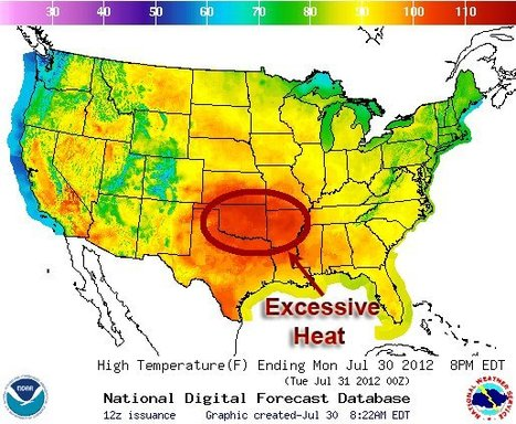 Extreme Heat Continues to Plague South Central States | Digital Sustainability | Scoop.it