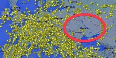 Map Shows Airplanes Getting The Heck Out Of Ukranian Airspace | Bismillah | Scoop.it