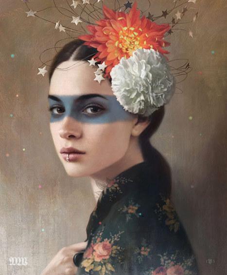 Belleza femenina y misticismo en las pinturas de Tom Bagshaw | Reflejos | Scoop.it