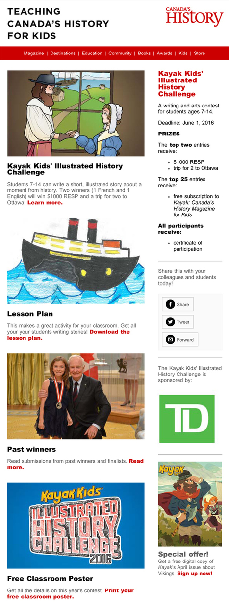 Canada's History | HCS Learning Commons Newsletter | Scoop.it