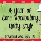 A Year of AAC Core Vocabulary, Unity Style | AAC | Scoop.it