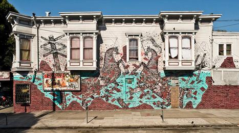 Juxtapoz Magazine - New mural by Andrew Schoultz in San Francisco | World of Street & Outdoor Arts | Scoop.it