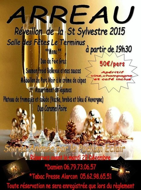 Réveillon de la Saint-Sylvestre organisé par le Comité Des Fêtes d'Arreau | Vallée d'Aure - Pyrénées | Scoop.it