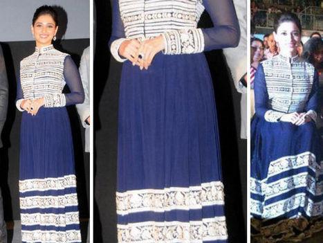 Tamannaah In Manish Malhotra Anarkali | Sarees kurtis Jewellery | Scoop.it