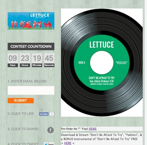 Funk Band 'Lettuce' builds contest with Heyo and is Crushin' it! | Facebook Tabs | Scoop.it