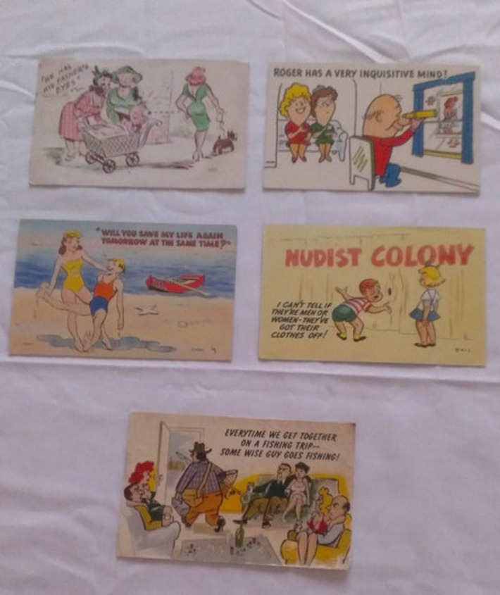 Vintage Hilarious But Pervy Cartoon Postcards | Sex History | Scoop.it