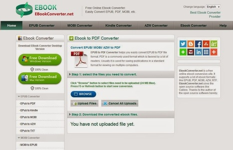 ENSEIGNANT WEB 2.0 et LANGUES: Ebook Converter   About Technology in Learning   Scoop.it
