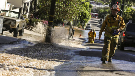 DWP still working to repair water main break on Sunset Boulevard | Sustainability Science | Scoop.it