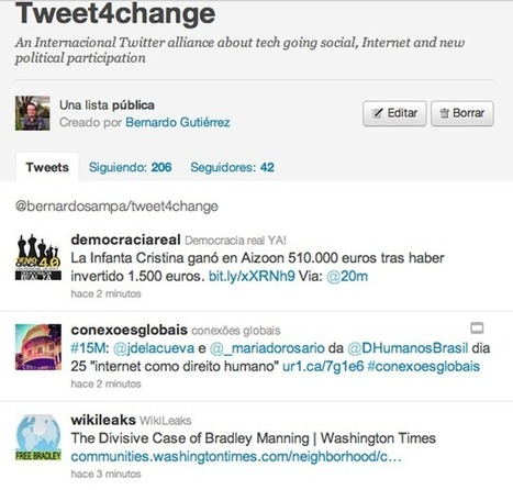 Tweet4change, conexión de las Revoluciones 2.0 - 20minutos.es | Other Voices | Scoop.it