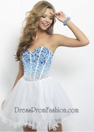 Indigo White Beaded A Line Short Prom Dress [A Line Short Prom Dress] - $158.00 : Fashion Cheap Prom Dresses, Formal, Homecoming Dresses - DressPromFashion | homecoming dresses 2013 | Scoop.it