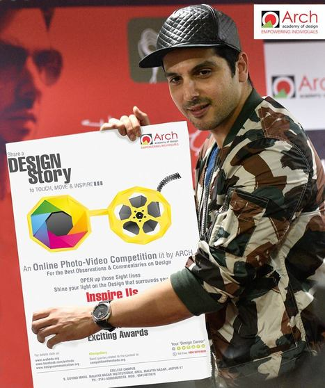 Bollywood actor Zayed Khan launched Backstitch-Arch's Monthly Design Magazine and the Poster of Design Story- An Online Photo-Video Competition lit by Arch. | Fashion Designing Courses | Scoop.it