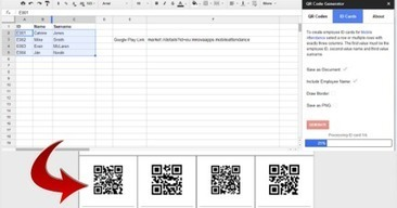 Generate QR Codes from Google Sheets via Educational Technology and Mobile Learning | qrcodes et R.A. | Scoop.it