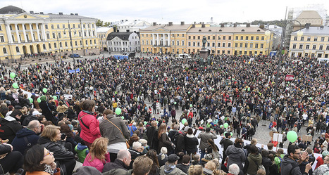 """#Finland #France #Spain #Portugal #Italy #Greece """"Enough is enough"""", Finns rally against neoNazis in mass protest 