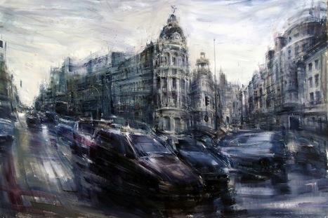Monotone Cityscapes Blend Elements of a Chaotic World | Culture and Fun - Art | Scoop.it