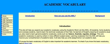 Using the Academic Word List | L2 Vocabulary Teaching & Learning | Scoop.it
