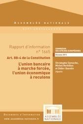 L'union bancaire à marche forcée, l'union économique à reculons | Actualité de la politique française | Scoop.it