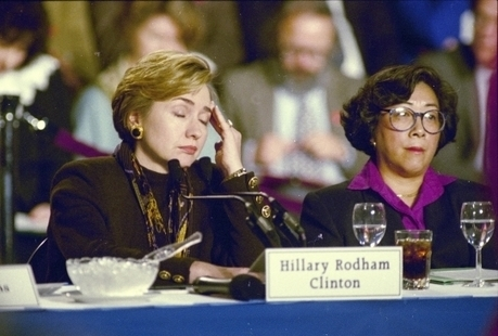 """#HillaryClinton ca. 1993 on Presidents Fighting Rich Corporations: """"Tell Me Something Real"""" - The Intercept 