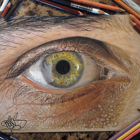 Hyperrealistic Eyes Drawn with Colored Pencils | Colossal | What Surrounds You | Scoop.it