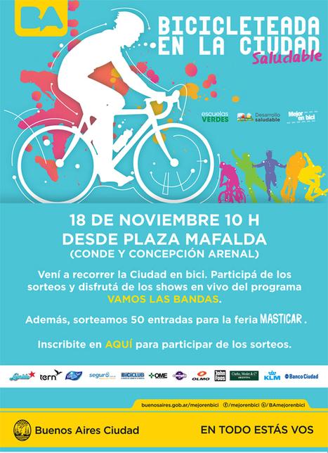 Bicicleteada en la Ciudad « Buenos Aires, mejor en bici   #PensáEnGrande <> #BuenosAires <> #Argentina   Scoop.it