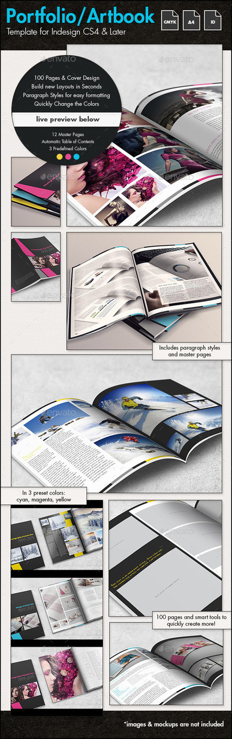 Photofolio & Artbook Template - A4 Portrait | About Art & Creativity | Scoop.it