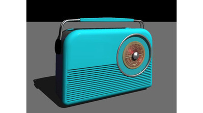 Poste de radio vintage 3D | 3D Library | Scoop.it