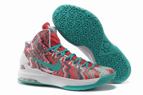 """Nike Zoom KD V 5 Sports Shoes (Womens) """"Christmas Graphic"""" - Red/White & New Green Colorways 