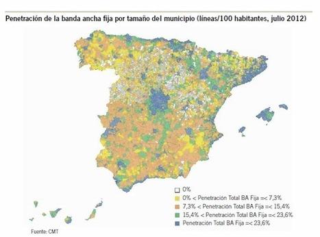 Mapa de la penetración de la banda ancha en España | Brecha digital | Scoop.it