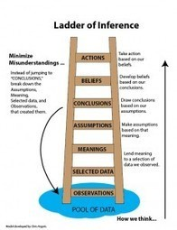 Ladder of Inference to Minimize Misunderstandings | Trainers Warehouse Blog | Coaching in Education for learning and leadership | Scoop.it