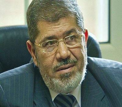 "#Egypt's President Mursi Calls Palestine ""Top Priority"" 