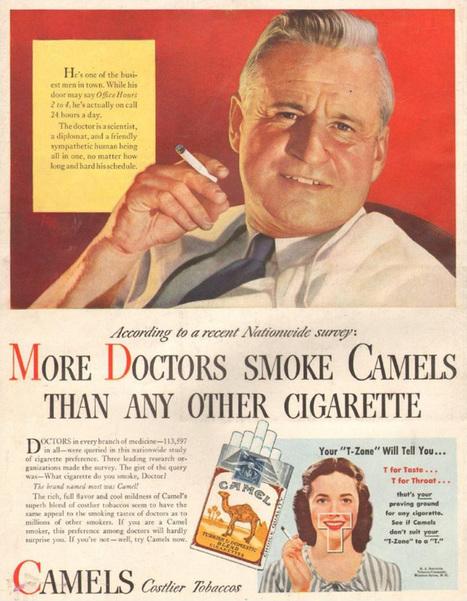 13 publicidades de cigarrillos que no vas a poder creer que realmente hayan existido | Cultura y turismo sustentable | Scoop.it